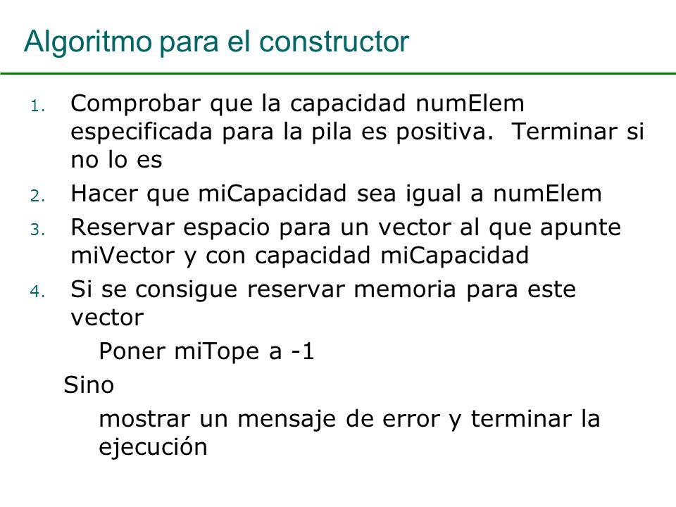 Algoritmo para el constructor 1.