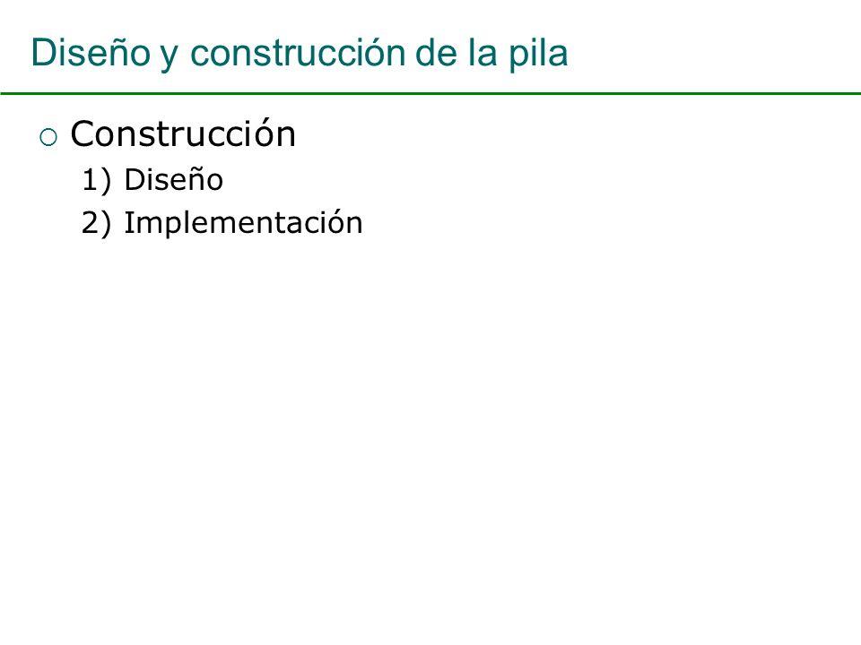 Diseño y construcción de la pila Construcción 1) Diseño 2) Implementación