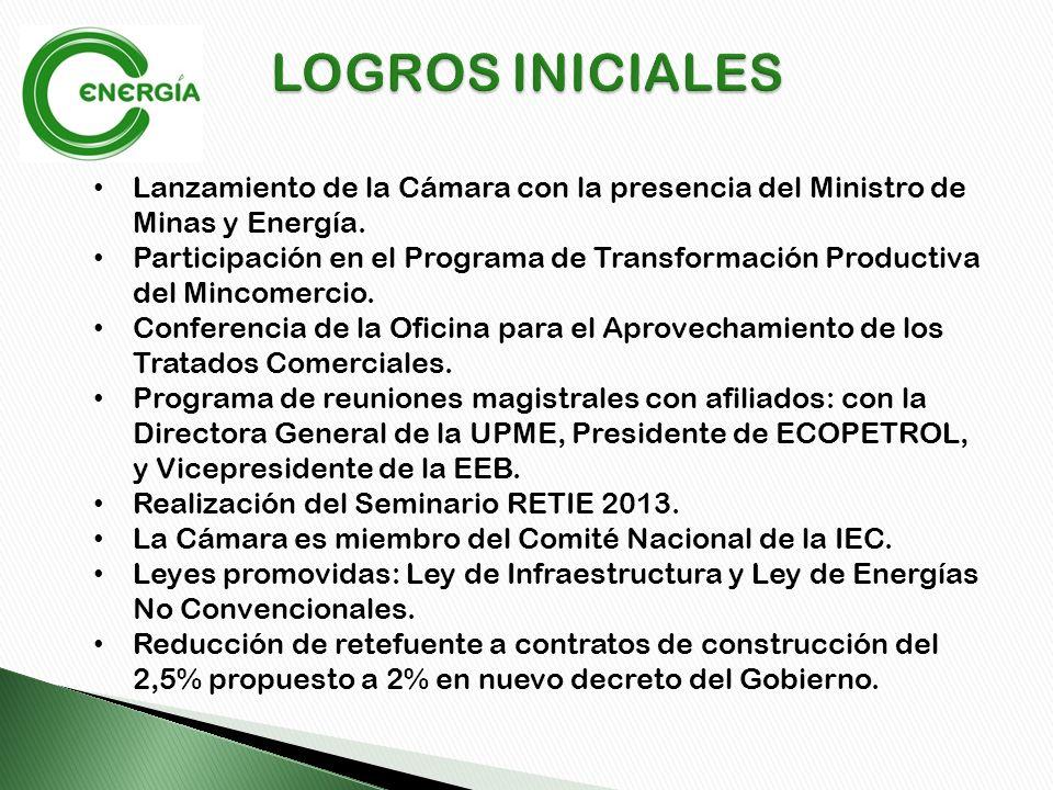 Lanzamiento de la Cámara con la presencia del Ministro de Minas y Energía.