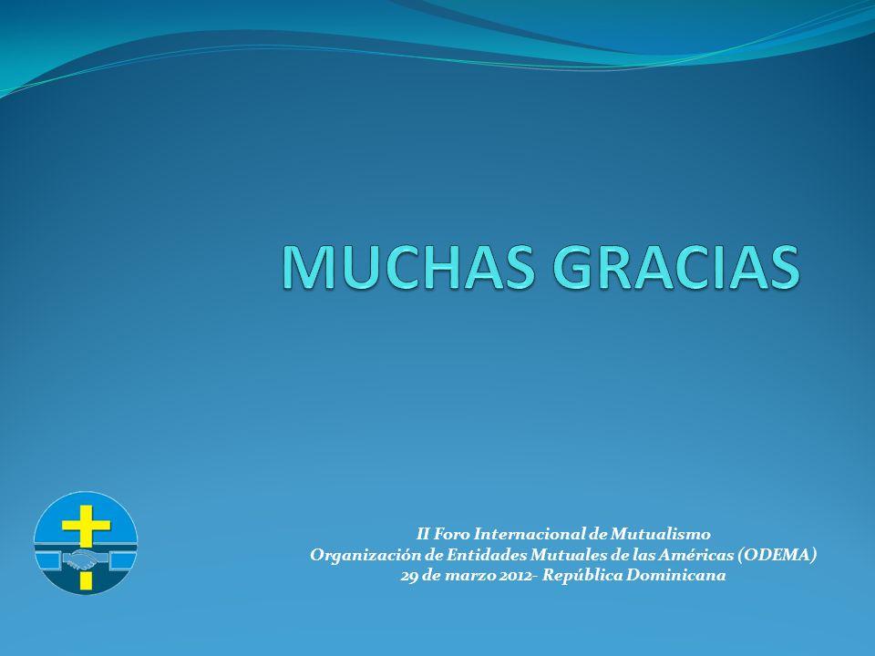 II Foro Internacional de Mutualismo Organización de Entidades Mutuales de las Américas (ODEMA) 29 de marzo 2012- República Dominicana