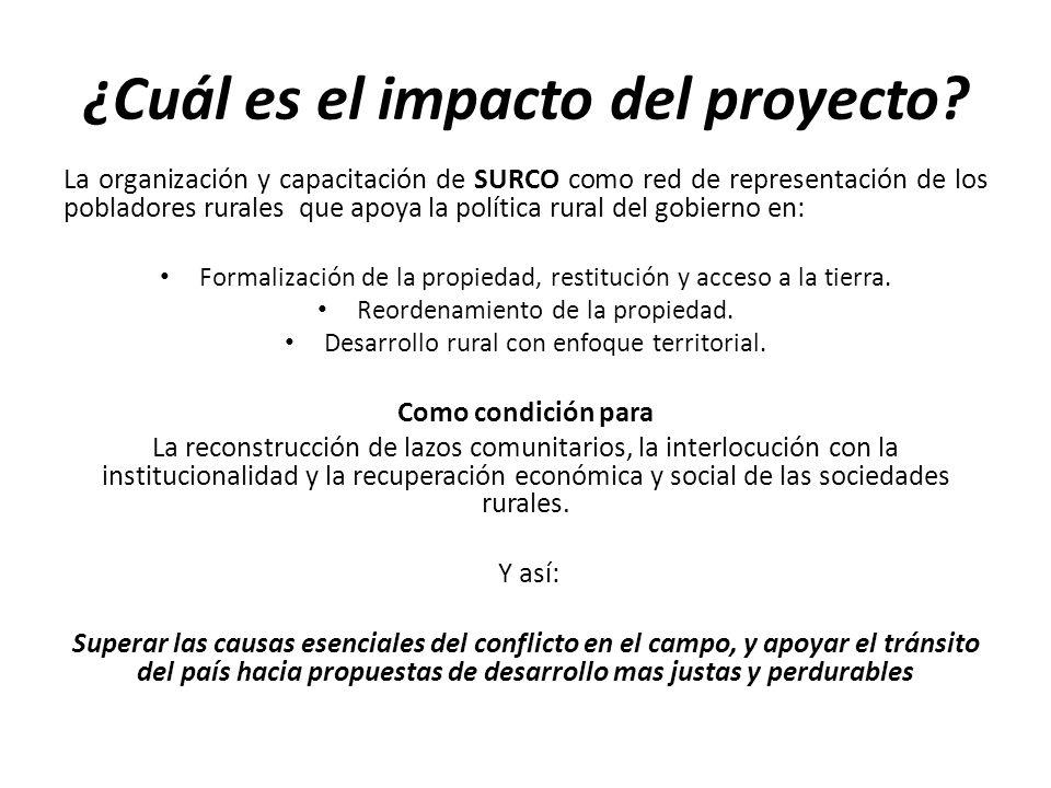 ¿Cuál es el impacto del proyecto.