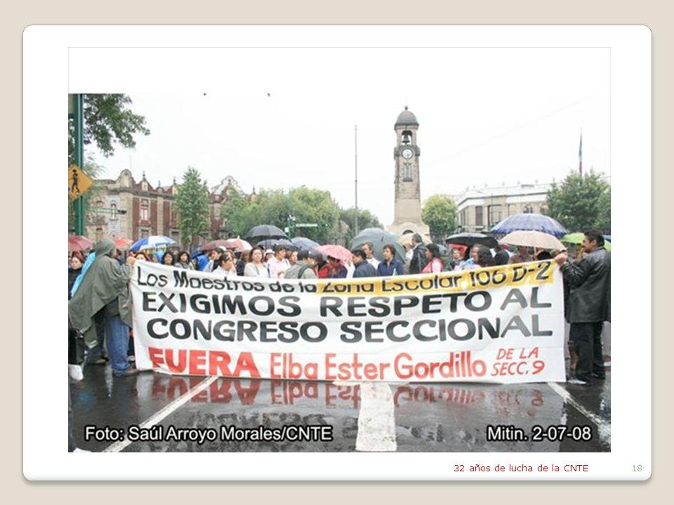 32 años de lucha de la CNTE18