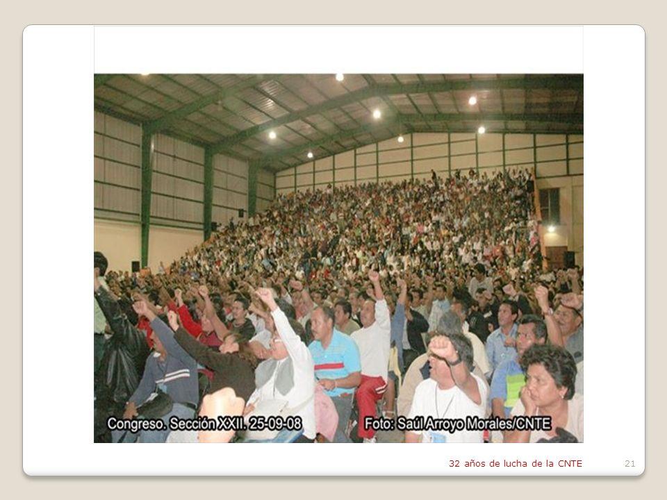 32 años de lucha de la CNTE21