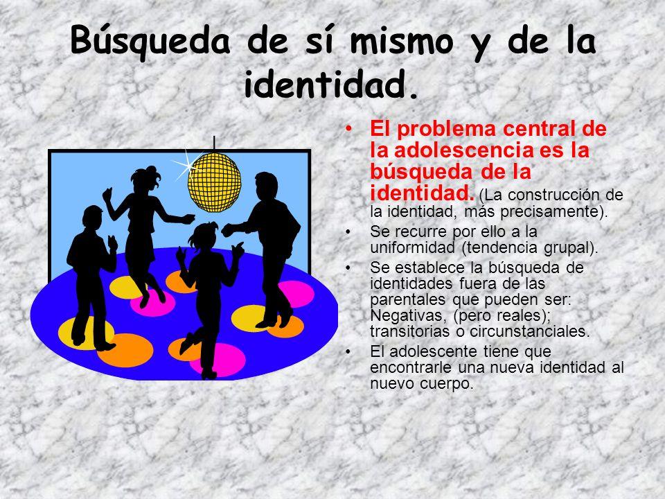 Existen 10 características generales de la adolescencia normal 1. Búsqueda de sí mismo y de la identidad. 2. Tendencia grupal. 3. Necesidad de intelec