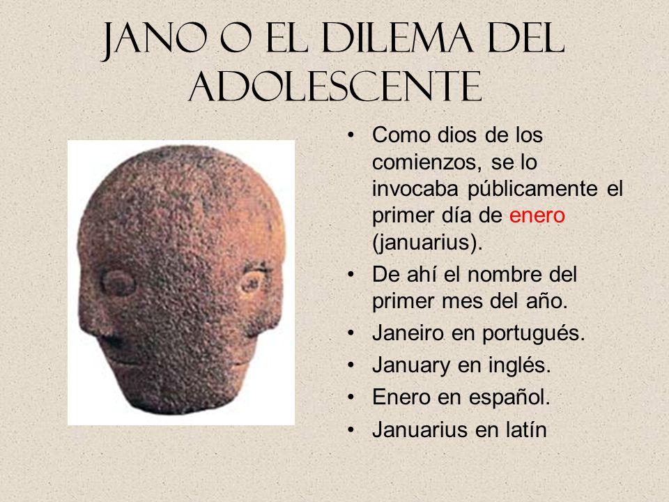 Jano o el dilema del Adolescente Jano, en la mitología romana, es el dios de las puertas y también de los comienzos, que, según los romanos, aseguraba