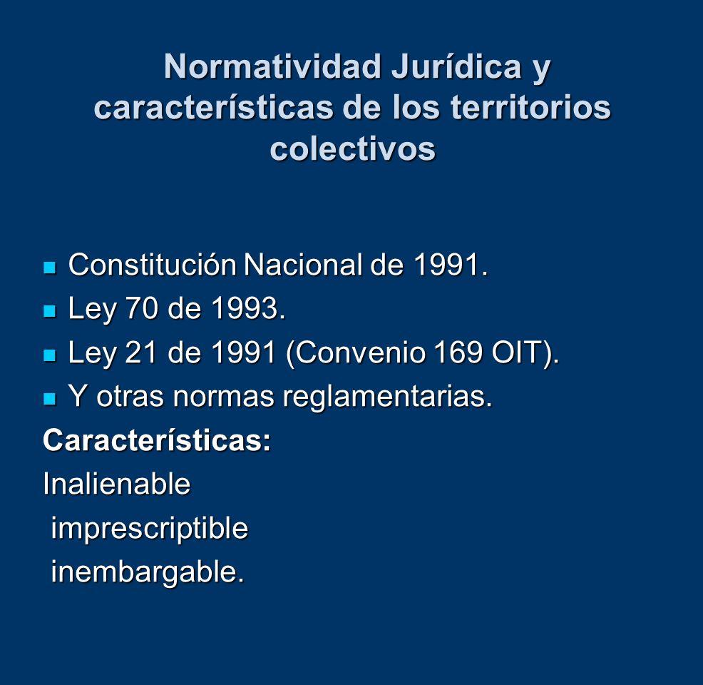 Normatividad Jurídica y características de los territorios colectivos Normatividad Jurídica y características de los territorios colectivos Constituci
