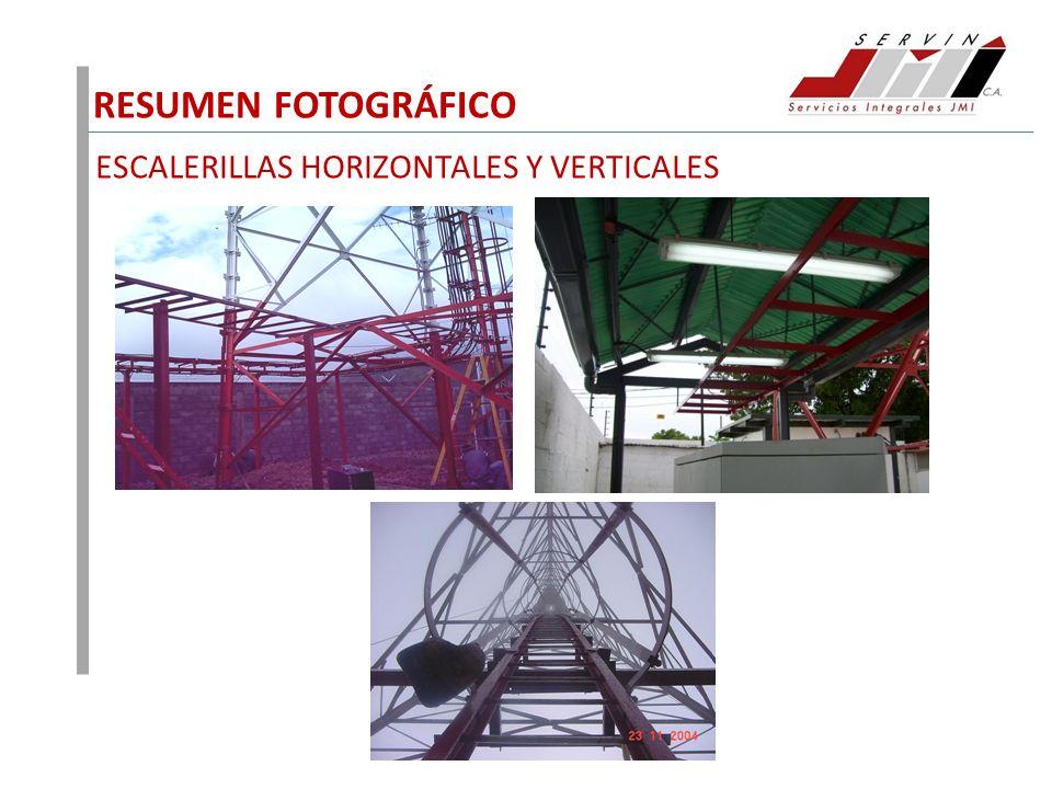 RESUMEN FOTOGRÁFICO ESCALERILLAS HORIZONTALES Y VERTICALES