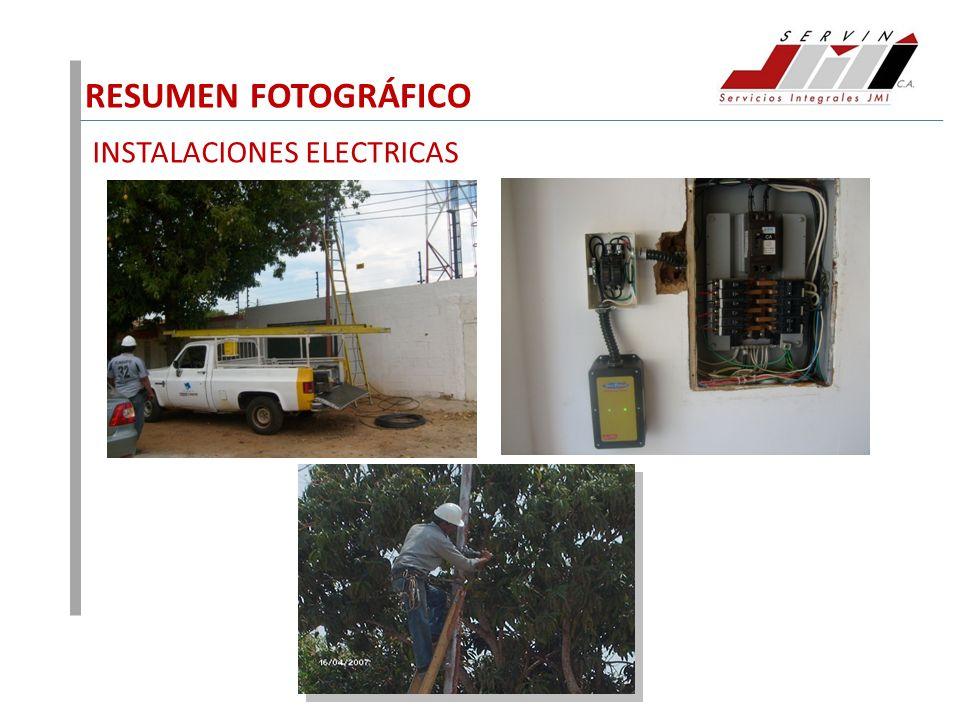 RESUMEN FOTOGRÁFICO INSTALACIONES ELECTRICAS