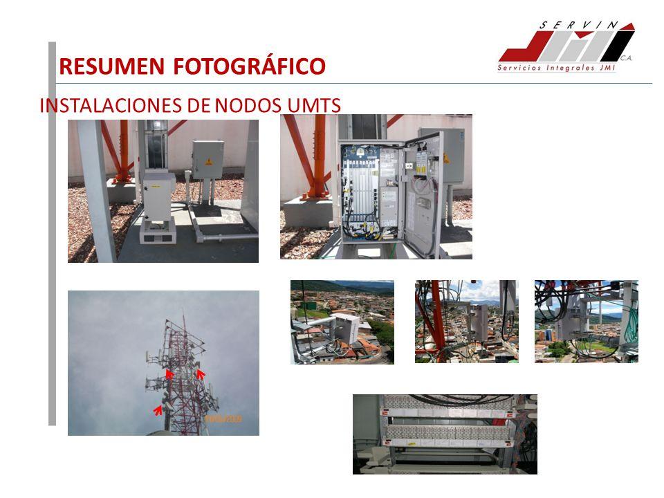 RESUMEN FOTOGRÁFICO INSTALACIONES DE NODOS UMTS