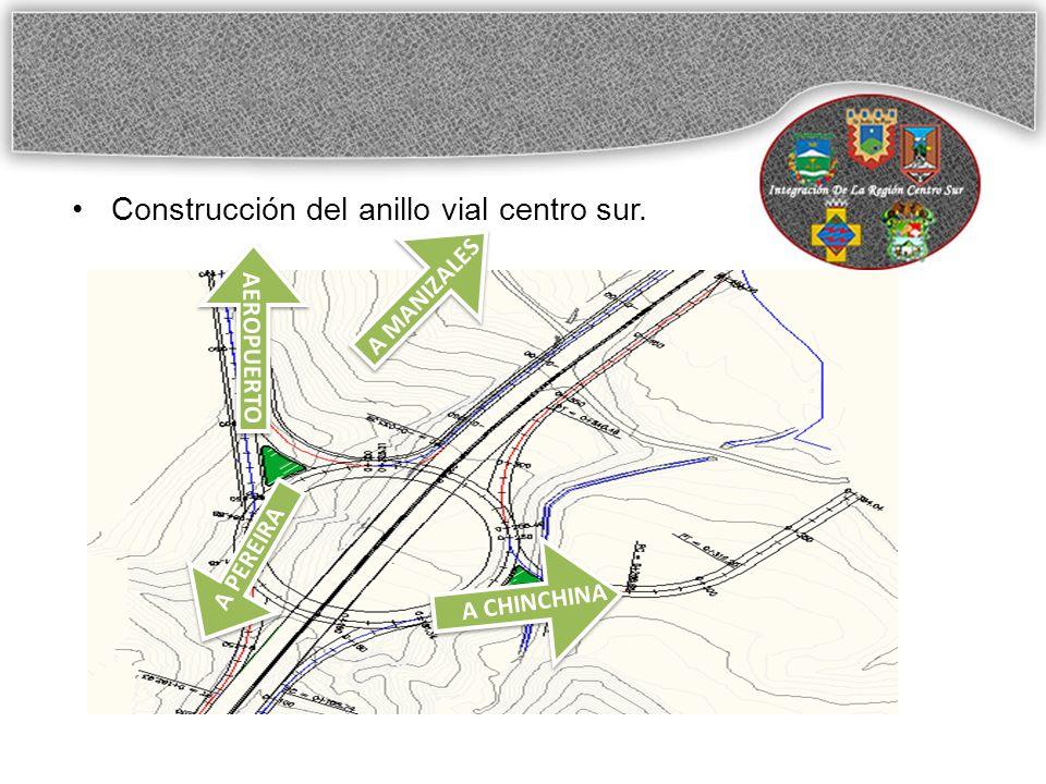 Construcción del anillo vial centro sur. A PEREIRA A CHINCHINA A MANIZALES AEROPUERTO