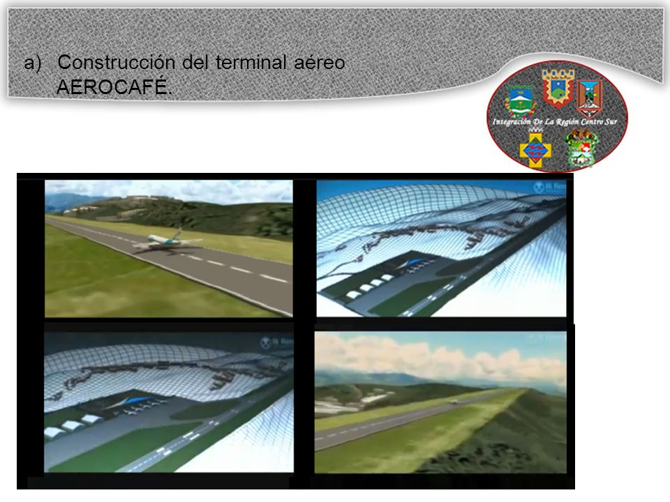 a)Construcción del terminal aéreo AEROCAFÉ.