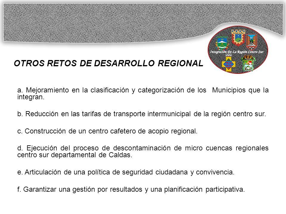 OTROS RETOS DE DESARROLLO REGIONAL a.