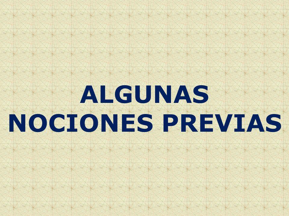 ALGUNAS NOCIONES PREVIAS
