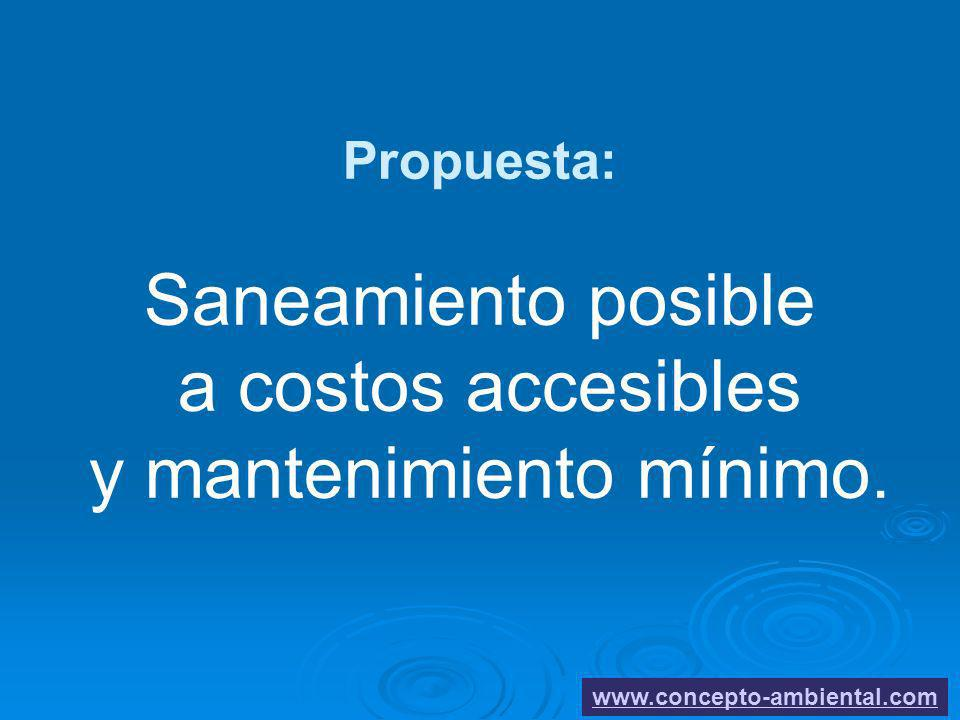 Propuesta: Saneamiento posible a costos accesibles y mantenimiento mínimo. www.concepto-ambiental.com