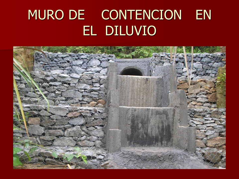 MURO DE CONTENCION EN EL DILUVIO
