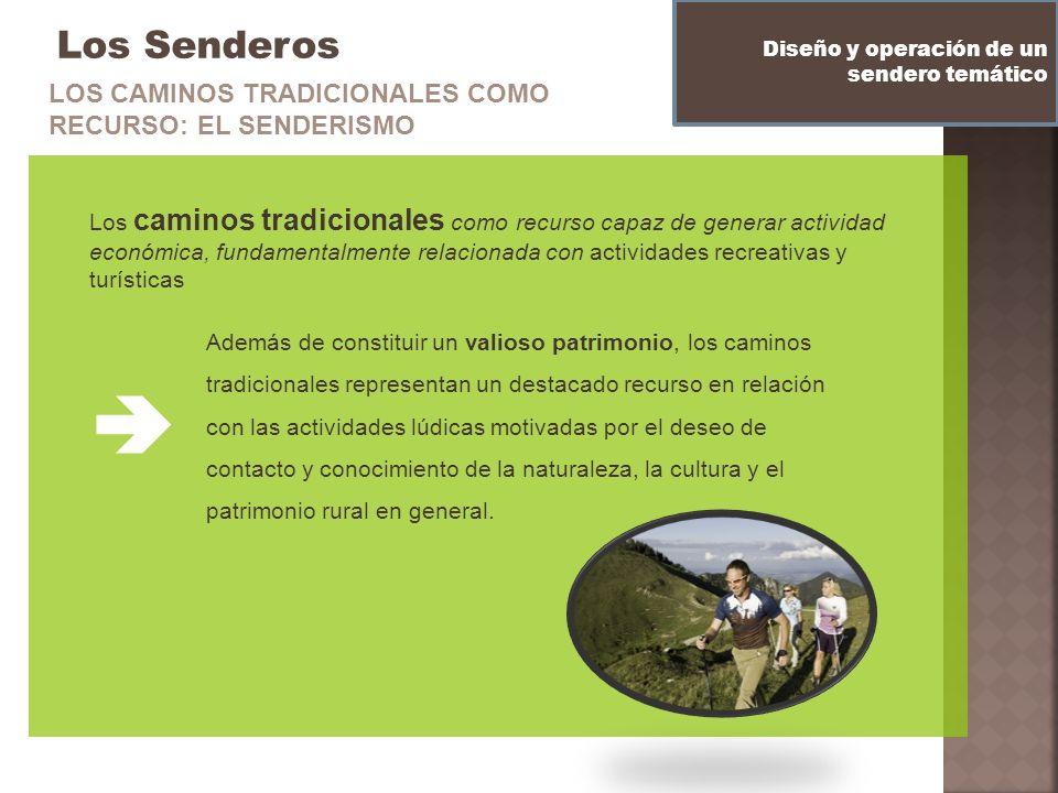 Los Senderos Los caminos tradicionales como recurso capaz de generar actividad económica, fundamentalmente relacionada con actividades recreativas y t