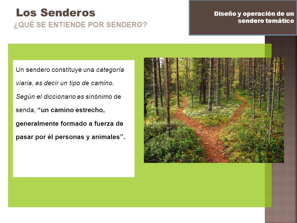 Los Senderos Un sendero constituye una categoría viaria, es decir un tipo de camino. Según el diccionario es sinónimo de senda, un camino estrecho, ge