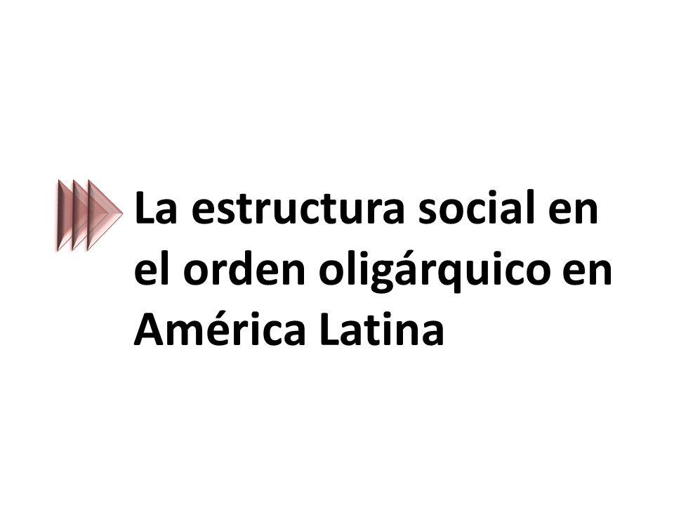 La estructura social en el orden oligárquico en América Latina