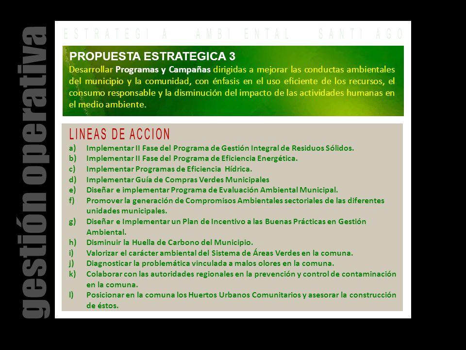 a)Implementar II Fase del Programa de Gestión Integral de Residuos Sólidos.