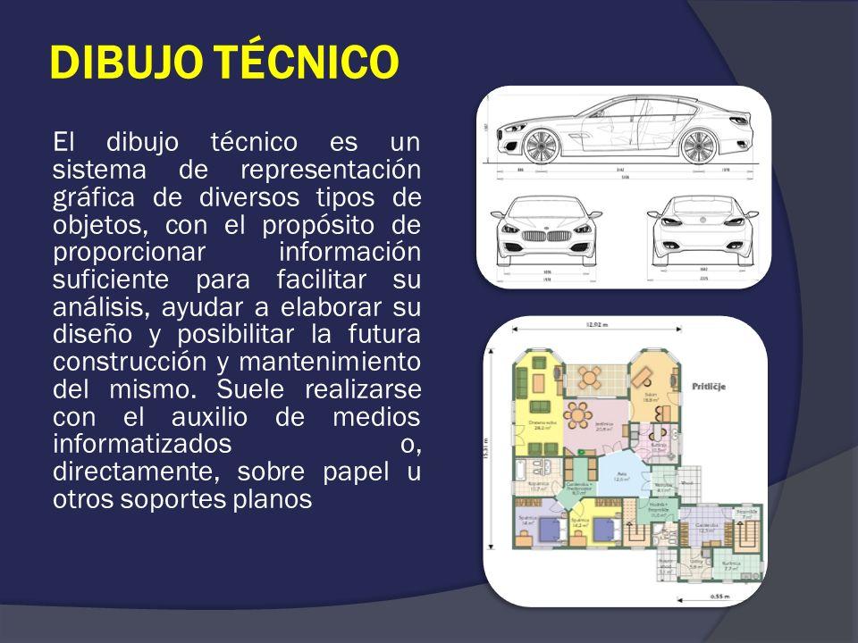 DIBUJO TÉCNICO El dibujo técnico es un sistema de representación gráfica de diversos tipos de objetos, con el propósito de proporcionar información su