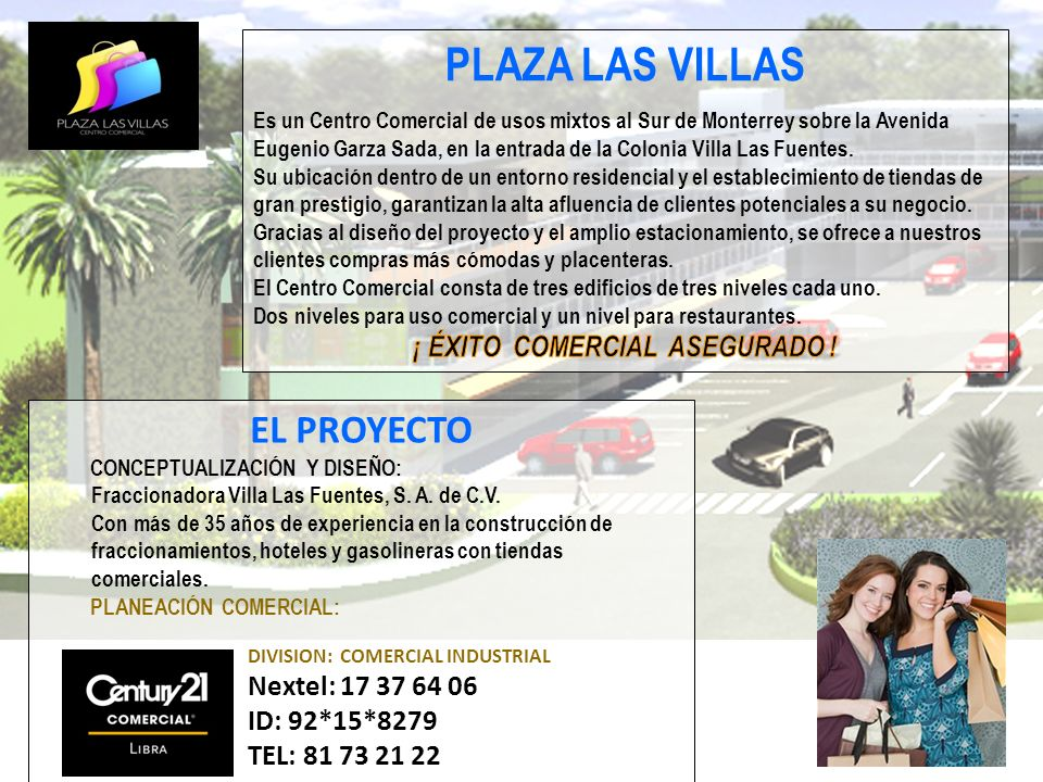EL PROYECTO CONCEPTUALIZACIÓN Y DISEÑO: Fraccionadora Villa Las Fuentes, S. A. de C.V. Con más de 35 años de experiencia en la construcción de fraccio