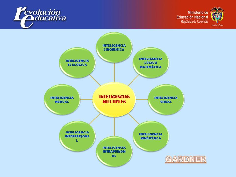INTELIGENCIAS MULTIPLES INTELIGENCIA LINGÜÍSTICA INTELIGENCIA LÓGICO MATEMÁTICA INTELIGENCIA VISUAL INTELIGENCIA KINÉSTÉSICA INTELIGENCIA INTRAPERSON