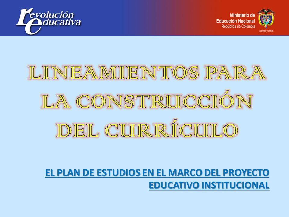 Constitución política de Colombia Ley general de educación 115 y sus decretos reglamentarios Plan de desarrollo Plan sectorial de educación PAM PEI - PMI