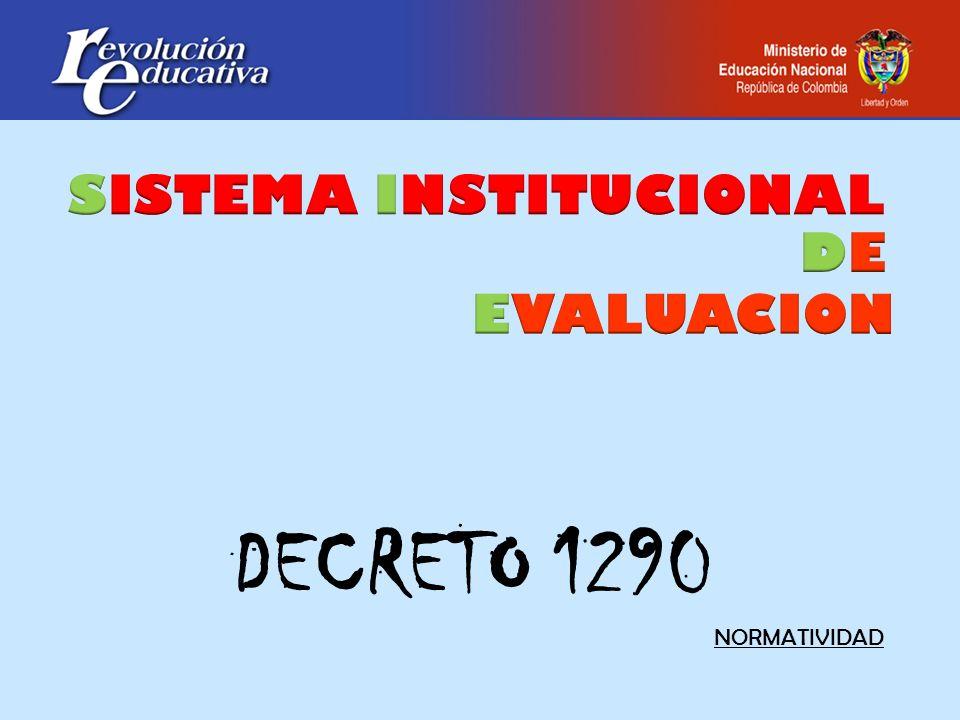 DECRETO 1290 NORMATIVIDAD