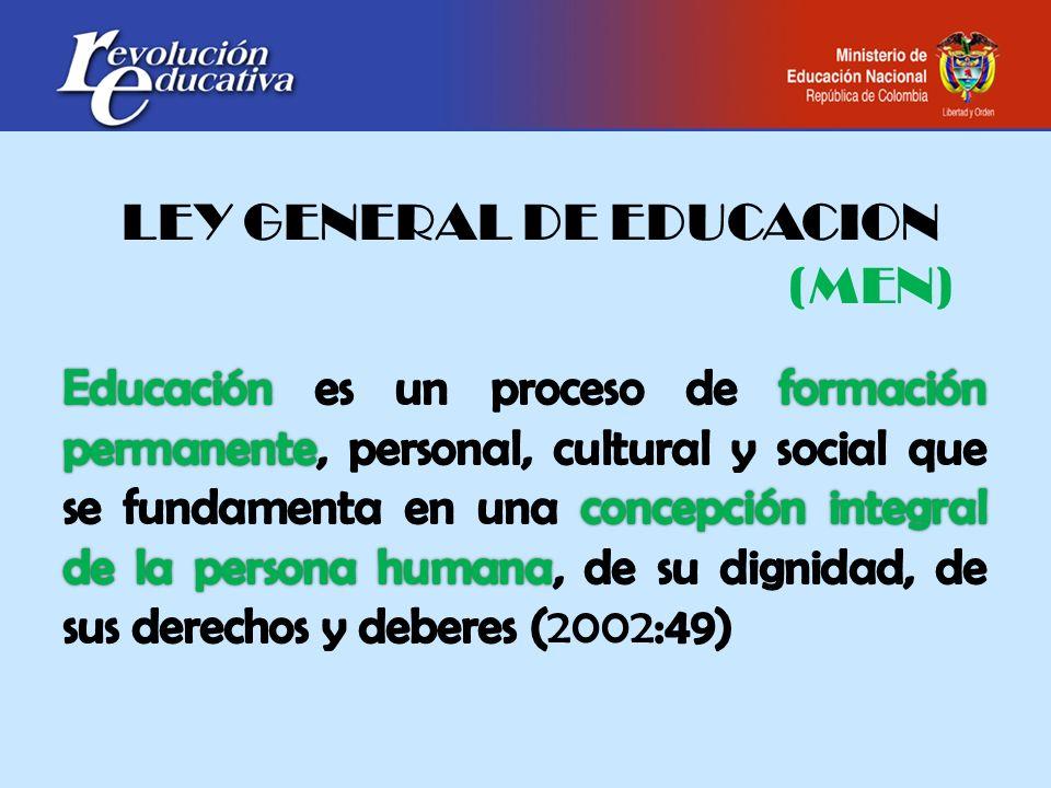 LEY GENERAL DE EDUCACION (MEN)