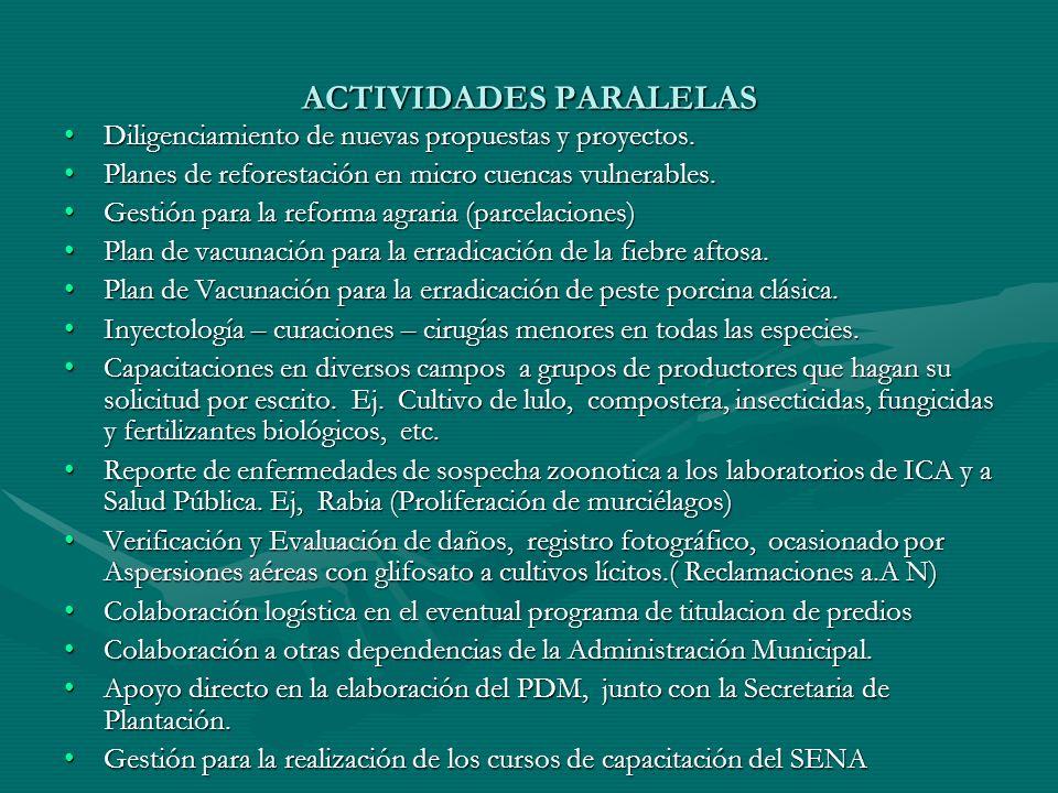 Continua aspersión con Glifosato en el Corregimiento de Martín Perez.