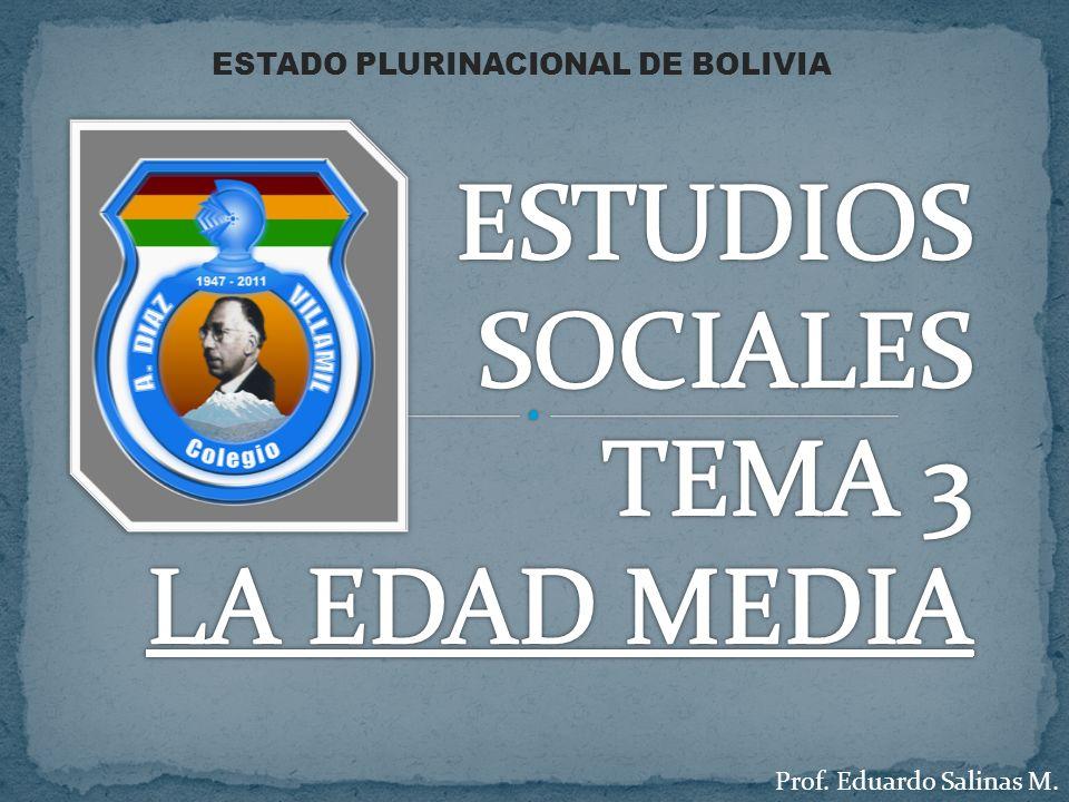 Prof. Eduardo Salinas M. ESTADO PLURINACIONAL DE BOLIVIA