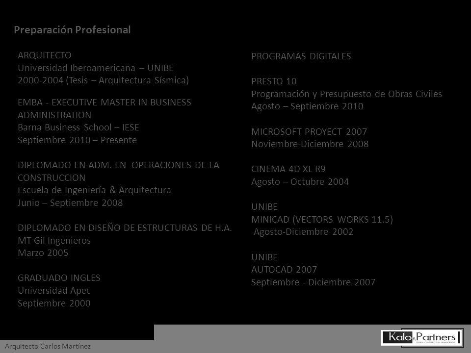 ARQUITECTO Universidad Iberoamericana – UNIBE 2000-2004 (Tesis – Arquitectura Sísmica) PROGRAMAS DIGITALES PRESTO 10 Programación y Presupuesto de Obr