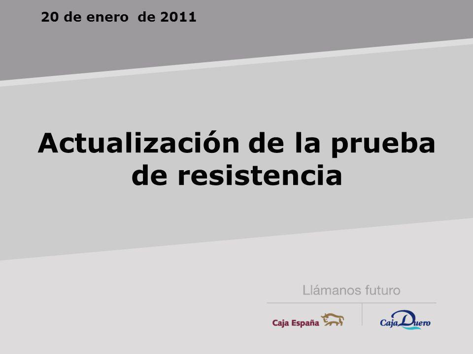 20 de enero de 2011 Actualización de la prueba de resistencia