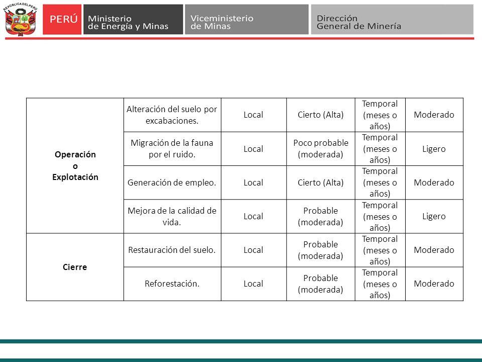 d.Estratégicas de Manejo Ambiental y Social Seguimiento y Cumplimiento Estricto del Plan de Manejo Ambiental de la concesión minera con el objetivo de minimizar los impactos a generarse.