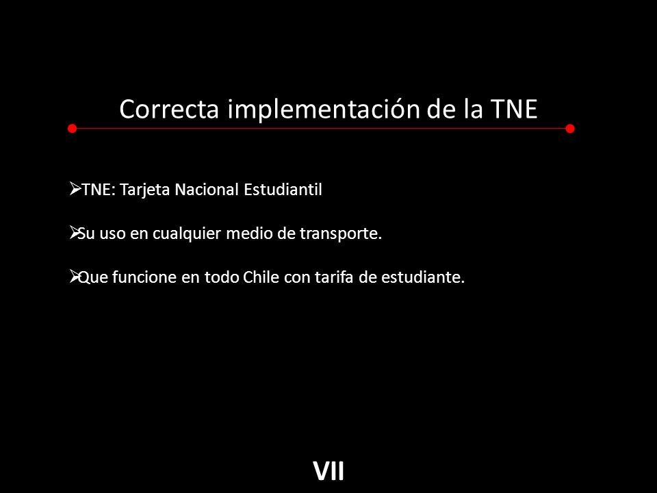 Correcta implementación de la TNE TNE: Tarjeta Nacional Estudiantil Su uso en cualquier medio de transporte.