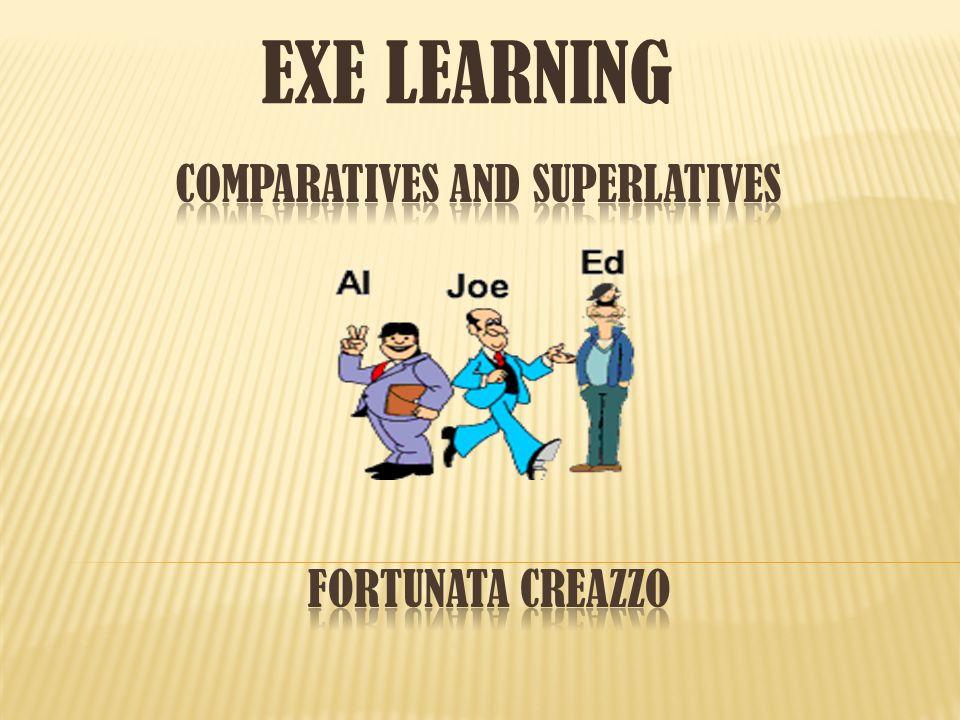 Apropiación y aplicación de las reglas gramaticales de comparativos y superlativos en oraciones comunes.