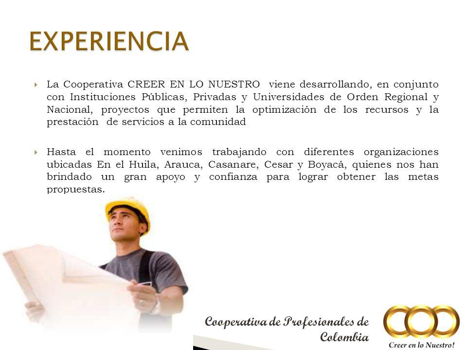 La estructura Organizacional de la cooperativa CREER EN LO NUESTRO es la siguiente: