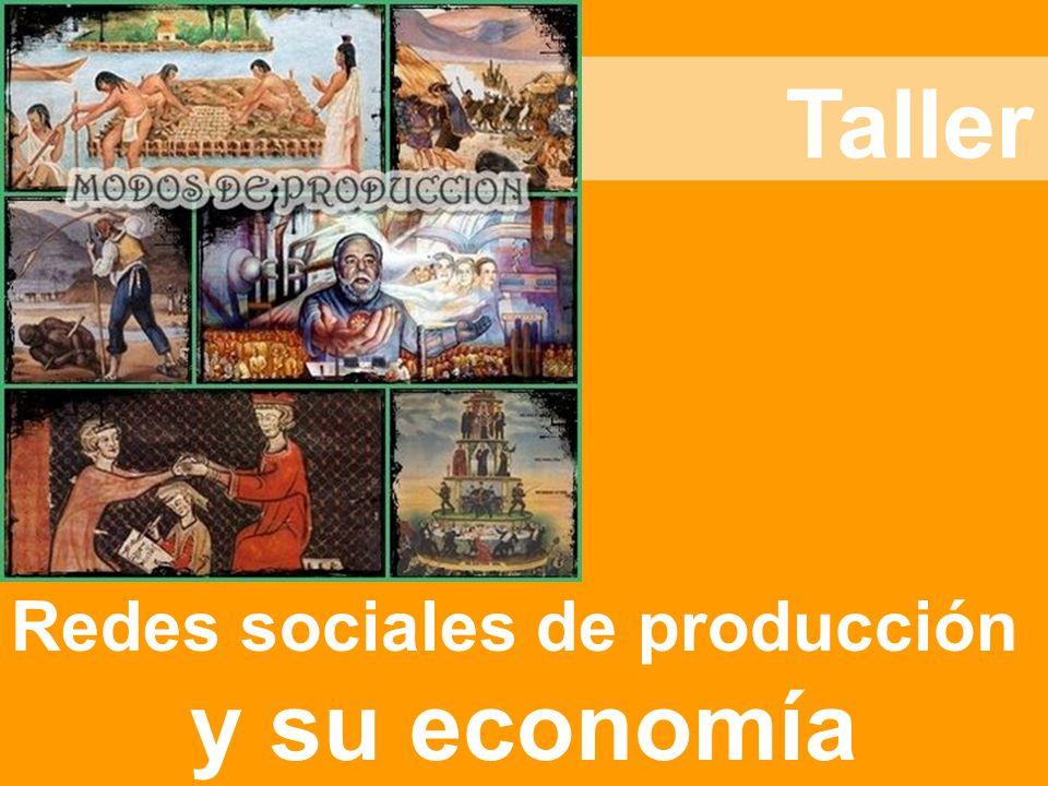 Taller Redes sociales de producción y su economía