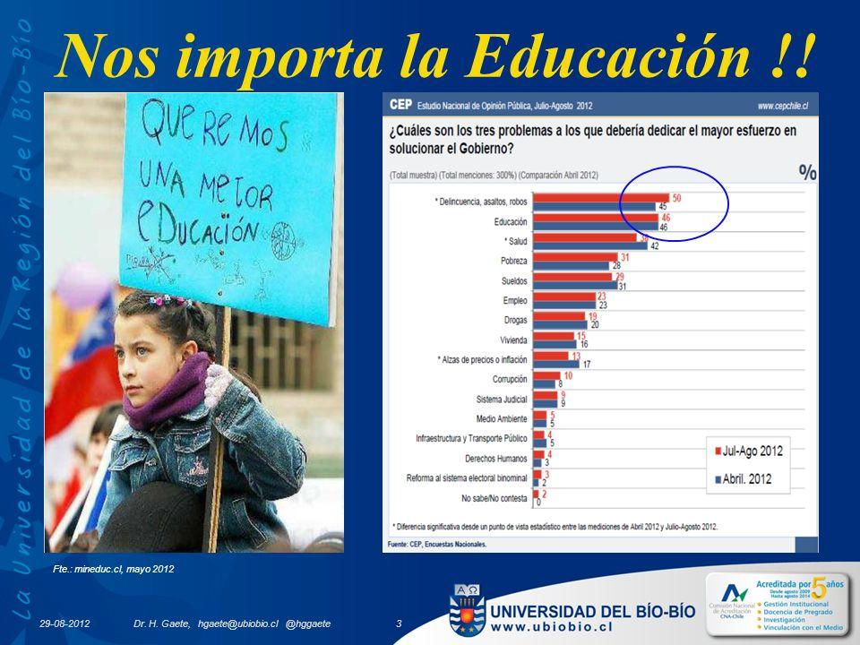 Nos importa la Educación !. Fte.: mineduc.cl, mayo 2012 29-08-2012 Dr.