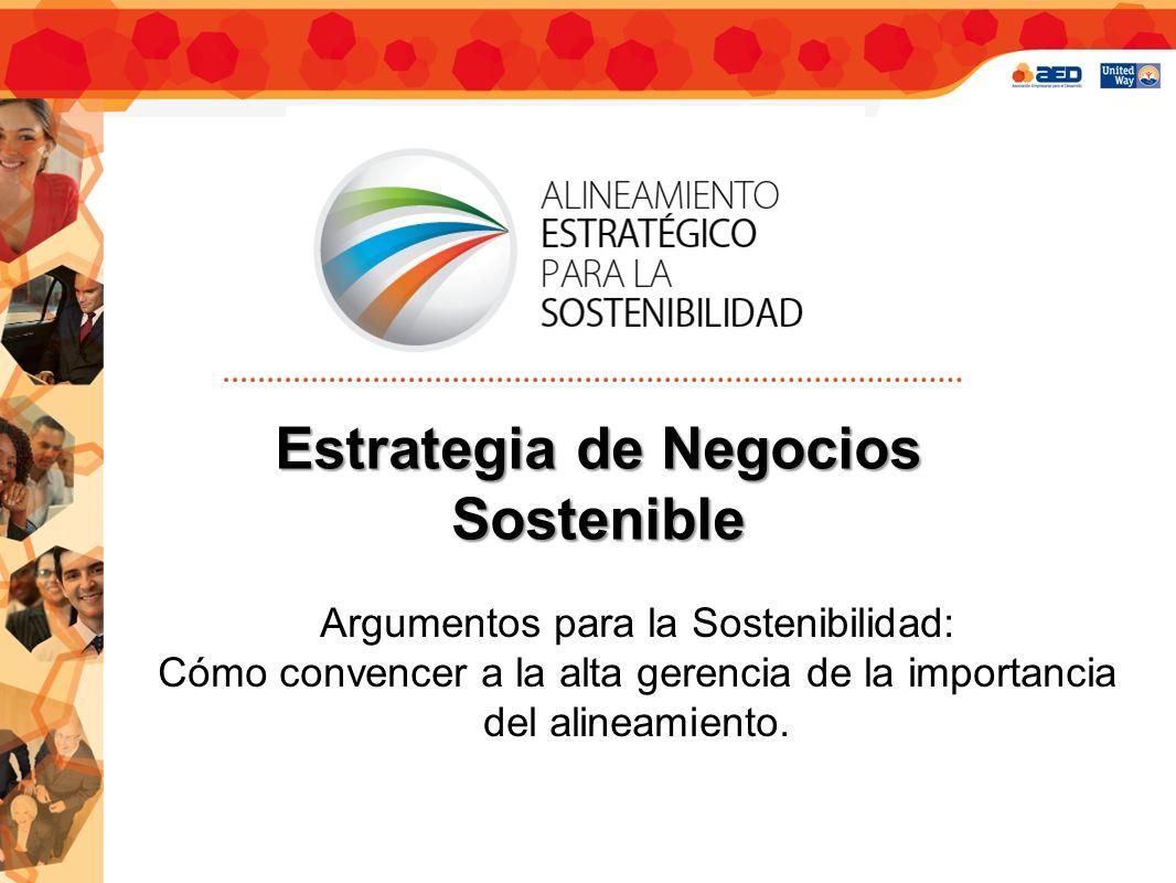 Estrategia de Negocios Sostenible Argumentos para la Sostenibilidad: Cómo convencer a la alta gerencia de la importancia del alineamiento.