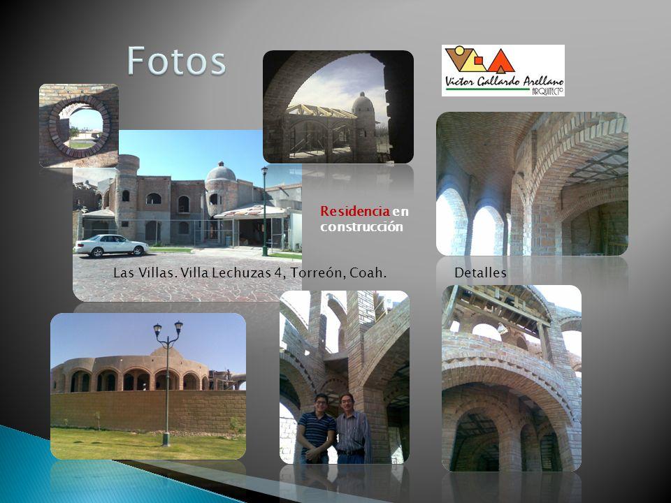 Las Villas. Villa Lechuzas 4, Torreón, Coah. Residencia en construcción Detalles