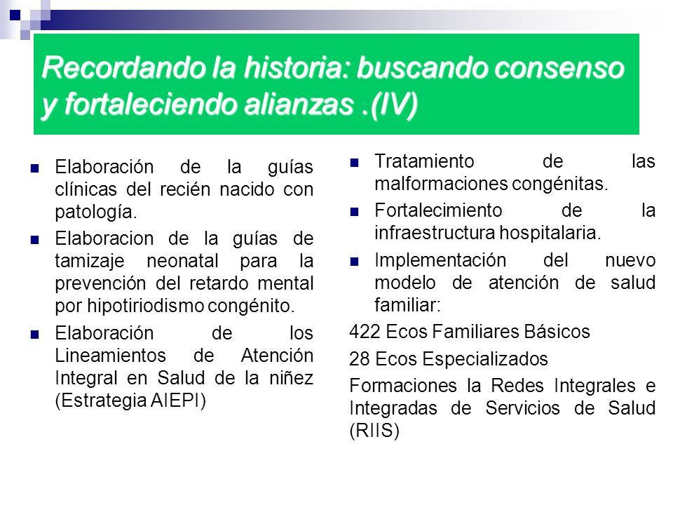 Recordando la historia: buscando consenso y fortaleciendo alianzas.(IV) Elaboración de la guías clínicas del recién nacido con patología. Elaboracion