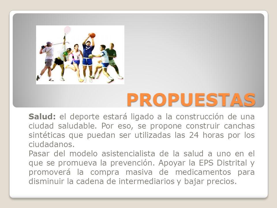 PROPUESTAS Salud: el deporte estará ligado a la construcción de una ciudad saludable.