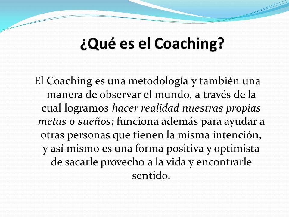¿Qué es el Coaching.