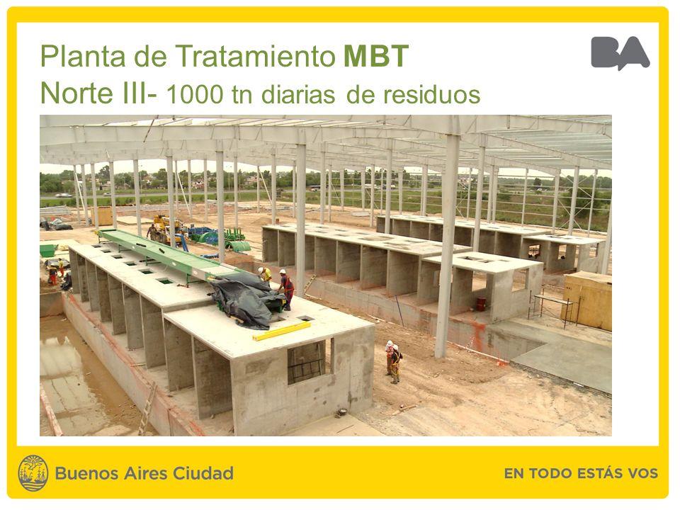 Planta de Tratamiento MBT Norte III- 1000 tn diarias de residuos