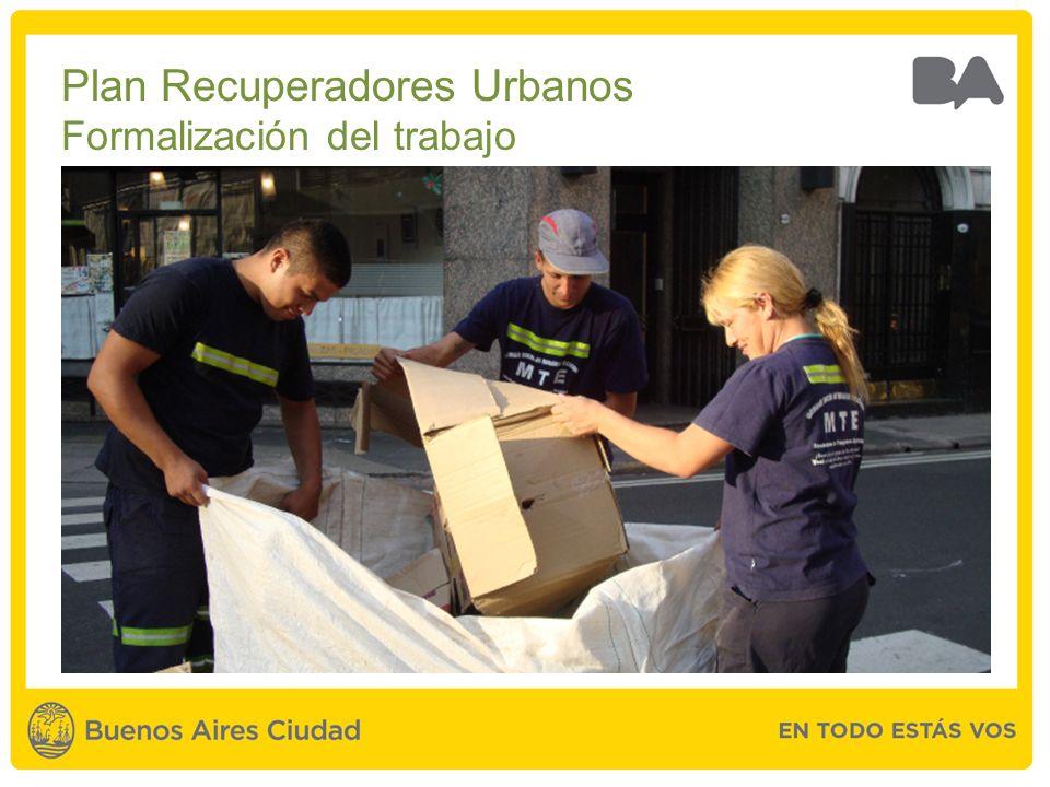 Plan Recuperadores Urbanos Formalización del trabajo
