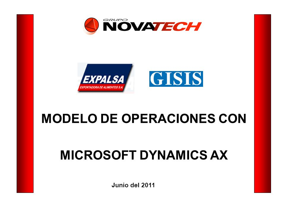 MODELO DE OPERACIONES CON MICROSOFT DYNAMICS AX Junio del 2011