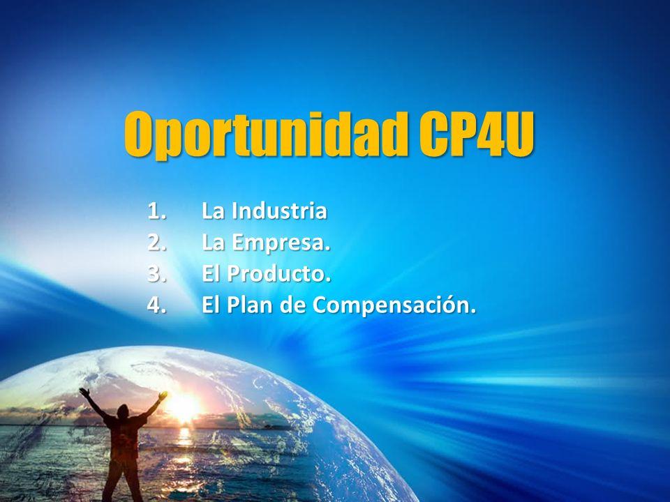 Oportunidad CP4U 1.La Industria 2.La Empresa. 3.El Producto. 4.El Plan de Compensación.