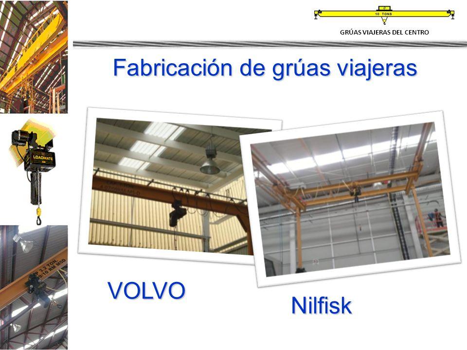 Nilfisk VOLVO Fabricación de grúas viajeras GRÚAS VIAJERAS DEL CENTRO