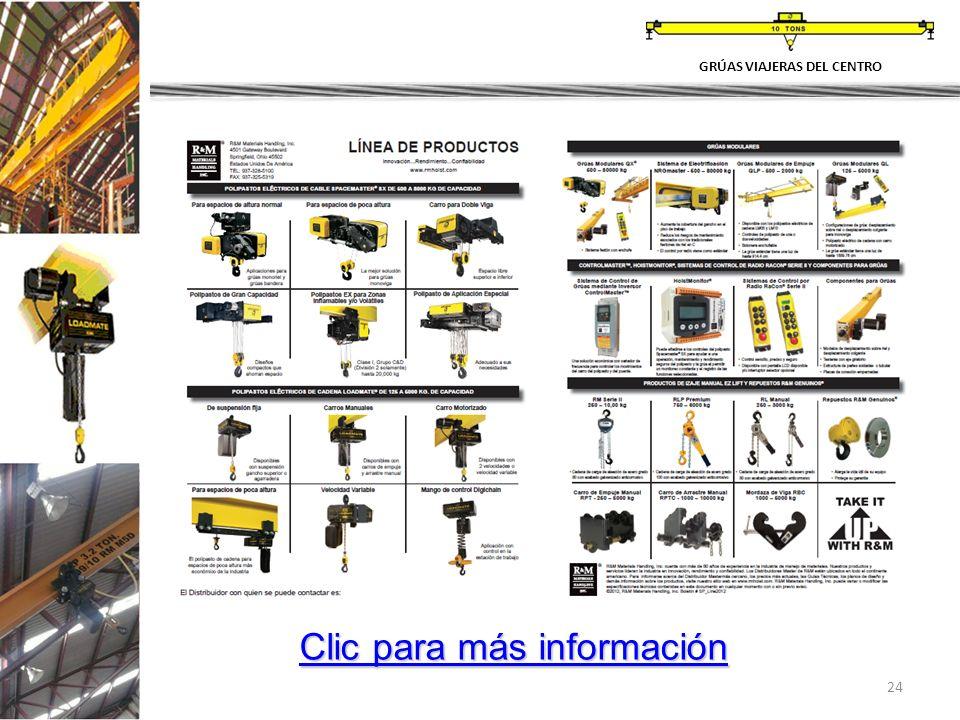 24 GRÚAS VIAJERAS DEL CENTRO Clic para más información Clic para más información
